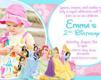 Invitación de cumpleaños de Cenicienta con por OnlinePartyDesign