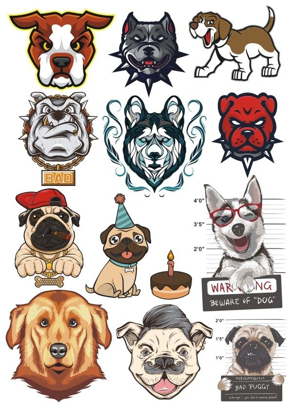 e7759b44165d Dogs Vector Set Free Vector cdr Download in 2019 | FREE T-Shirt Designs and  prints | Dog vector, Vector free, Free t shirt design