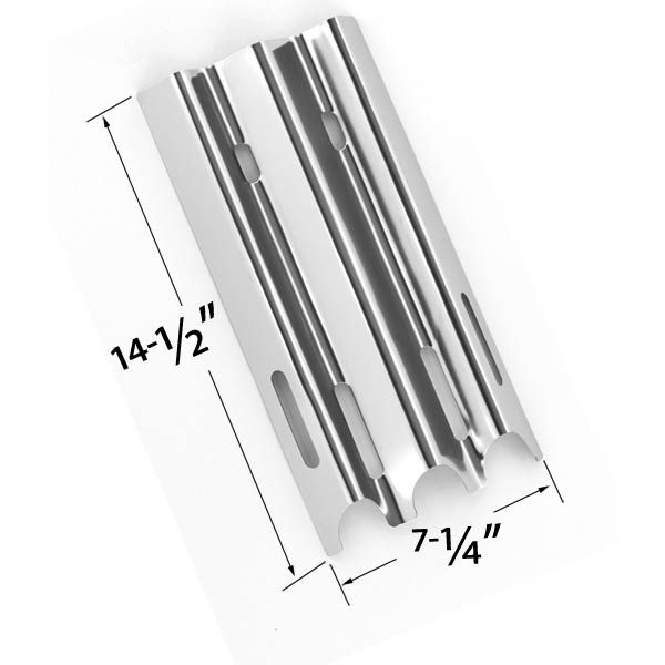REPLACEMENT STAINLESS STEEL HEAT PLATE FOR VERMONT CASTINGS, JENN-AIR & GREAT OUTDOORS GAS GRILL MODELS Fits Compatible Vermont Castings Models : CF9030, CF9030LP, CF9030N, CF9050, CF90501AP, CF9055, CF9055 3A, CF9055 3B, CF90551P, CF90553A, CF90553B, CF9055LP, CF9055N, CF9056, CF9080, CF90803AP, CF9085, CF9085 3A, CF9085 3B, CF9085-3B, CF90853A, CF90853B, CF9085LP, CF9086, CF9086LP