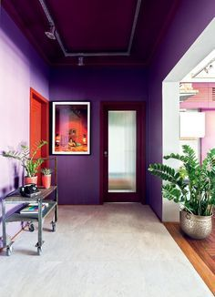purple hallway #decor #colors