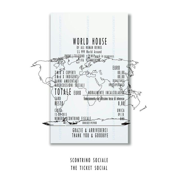 """""""Lo scontrino sociale - The social ticket"""" ----www.gigarte.com/lucianocaggianello/opere"""