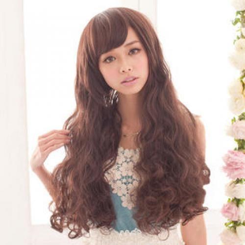 Long Full Wigs - Wavy Coffee - One Size