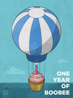- Illustrazione - Flying Cupcake è un lavoro personale, realizzato per celebrare il primo anniversario dello shop Boobee Argentario a Porto Santo Stefano. Posted by Riccardo #birthday #first #birthday #primo #compleanno #poster #illustration #illustrazione
