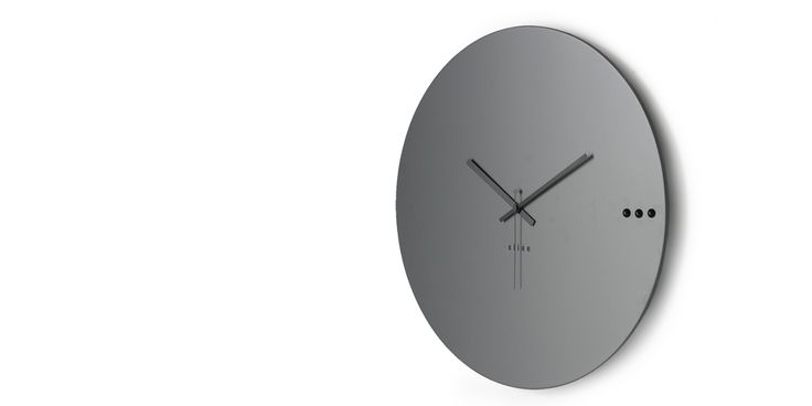 Wall clock tre grey | xline