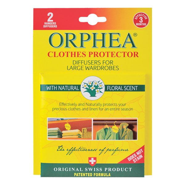 Orphea Clothes Protector diffusers are the natural way to protect your clothes in wardrobes with their beautiful yet unobtrusive bouquet.