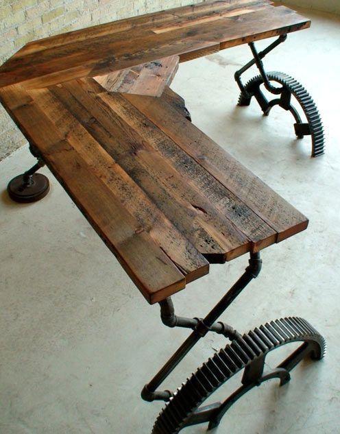 """""""Рабочие"""" рабочие столы в стиле индастриал (трафик)"""