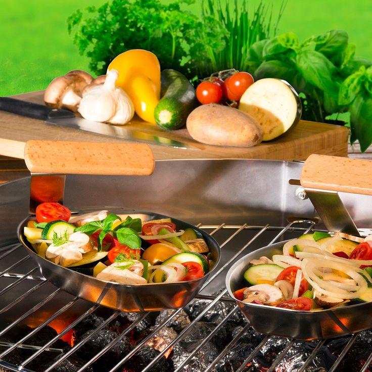 Poêle à légumes pour barbecue #ideecadeau #barbecue