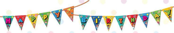 Birthday Bunting Code : BB01 Make your party pop with our birthday bunting!  #birthday #birthdaydecor #bunting #party #classroom #decor #decoration