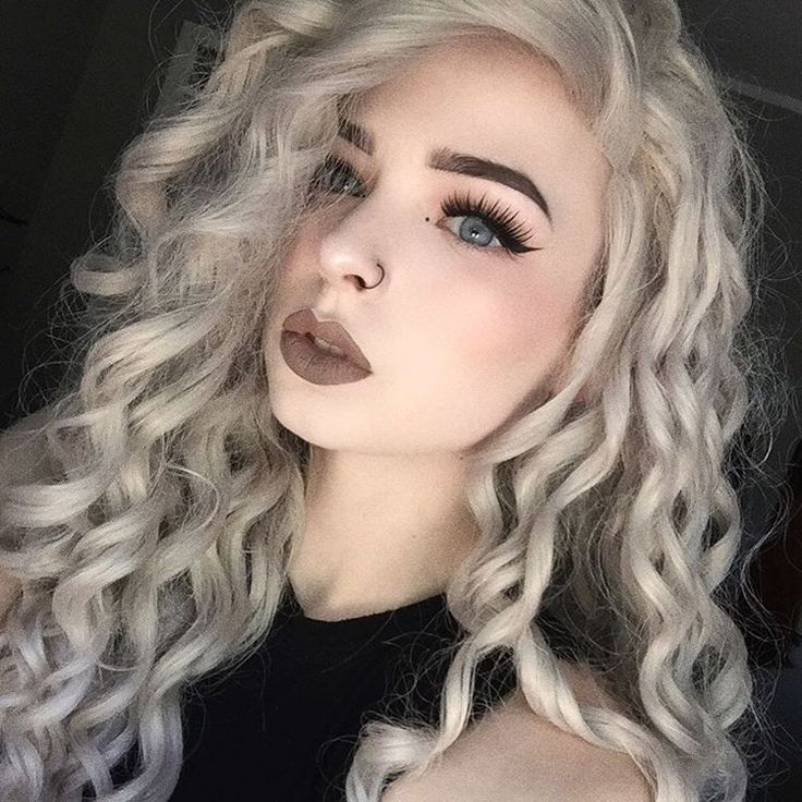 Long curly silver wig hair by hrklives