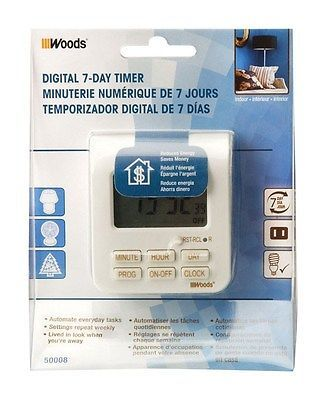 Coleman Cable Digital Timer 7 Day White