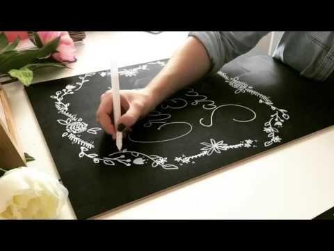 DIY wedding chalkboard sign