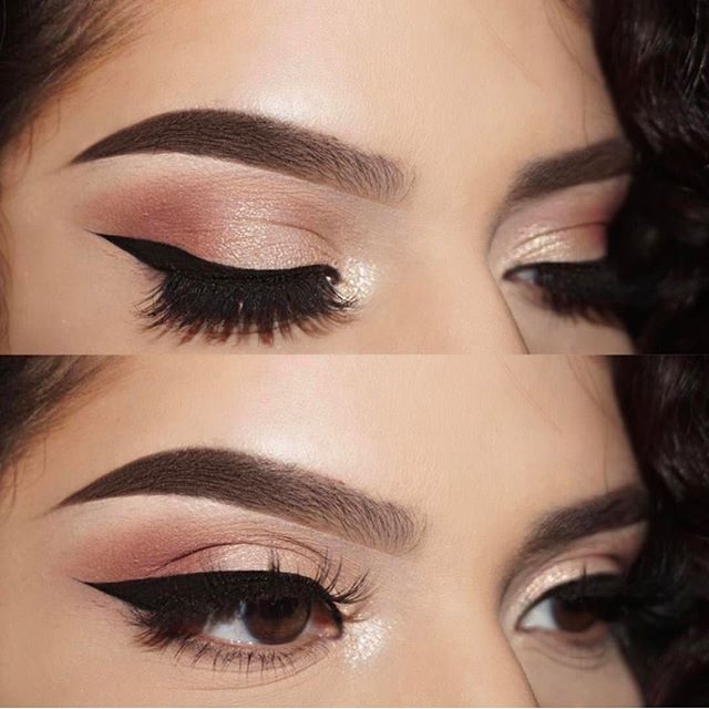 """#Goals Amazing look by ✨@vvisionsss✨ wearing #LuxyLash """"HOMEGIRL"""" lashes! Perfect brows, winged liner & wispie lashes! Beautiful work! Upgrade your lash game with us today! FREE SHIPPING ON ALL US ORDERS! ▪️www.luxy-lash.com▪️"""