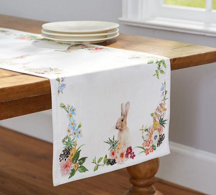 Floral Bunny Runner