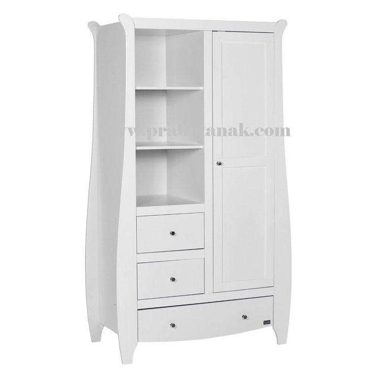 Lemari Pakaian Anak Lucu Warna Putih Lemari Pakaian Anak Lucu Warna Putih Ukuran standar (P x L x T) = 110x 50cm x 190cm Bahan dari kayu mahoni perhutani s