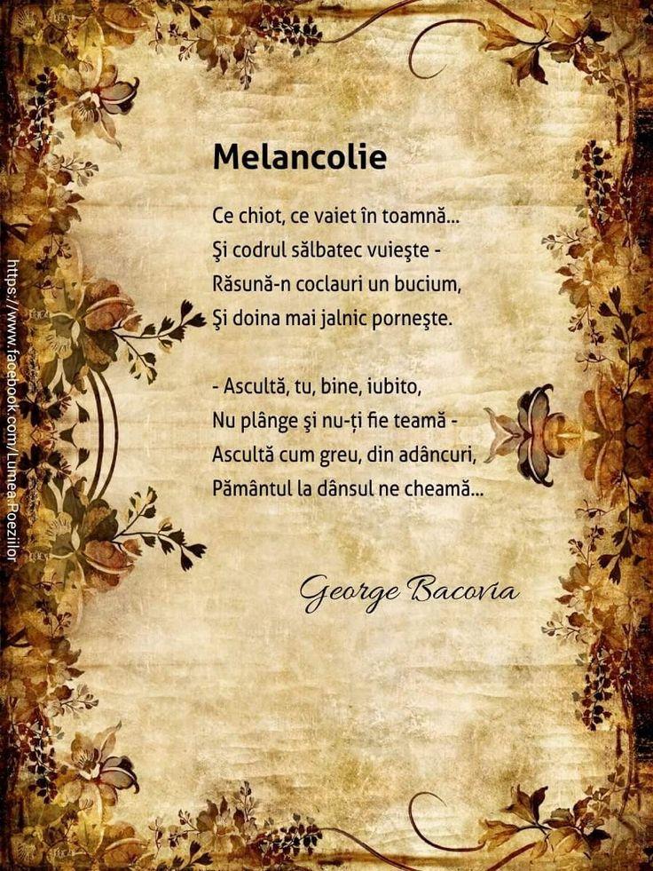 Bacovia - Melancolie