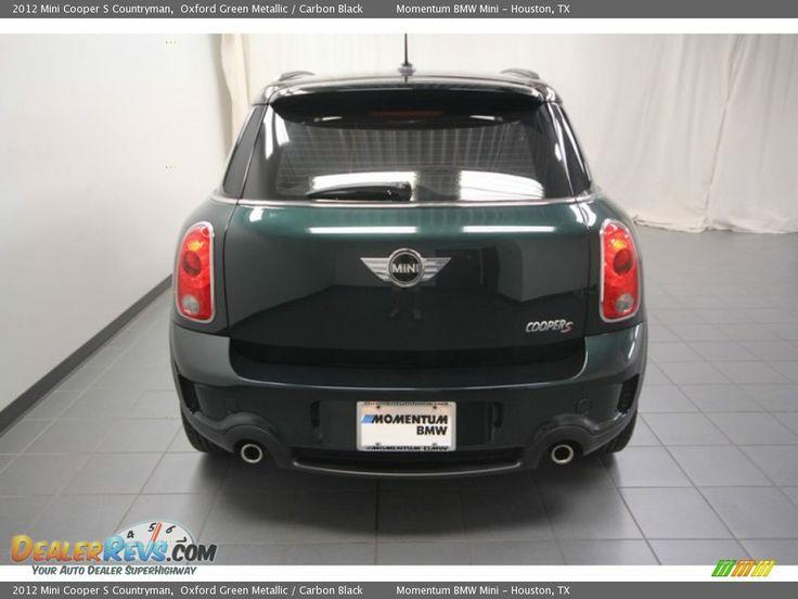 2012 Mini Cooper S Countryman Oxford Green Metallic Carbon Black Mini Cooper Mini Cooper S Mini