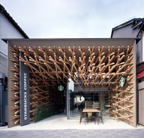 Have your coffee and be awed at the same time. Kengo Kuma rocks Starbucks!