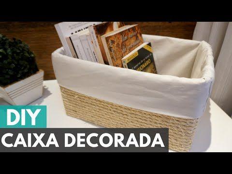 Caixa organizadora personalizada  DIY - Faça você mesmo - YouTube