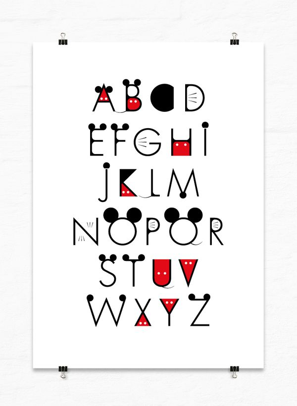 Mickey Font by A Beautiful Design , via Behance
