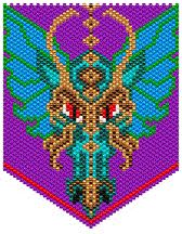 Dragon Pendant, Patch, or Pouch Bead Pattern by Elizabeth Ann Scarborough