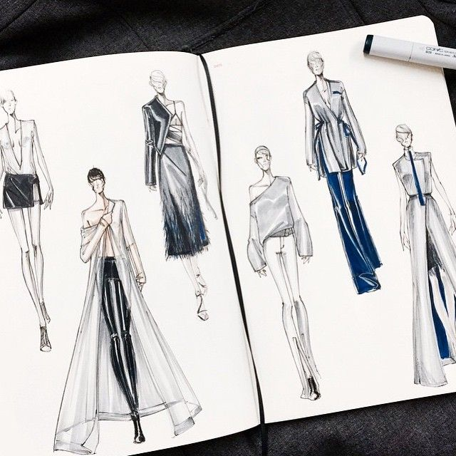 Cool design ideas and sketches by designer @arthuraleksander with fashionary sketchbook!