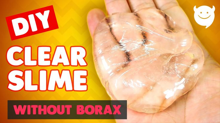 How to make Jelly Clear Slime - without Borax (DIY LIQUID GLASS) Clay Slime