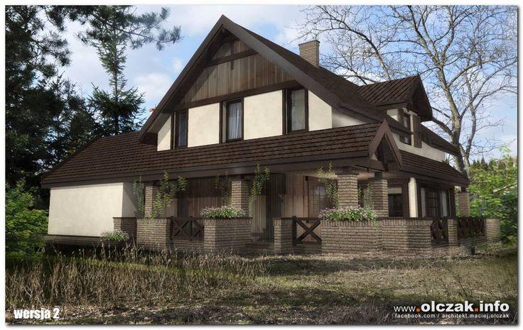Architekt Maciej Olczak - dom z zadaszonym tarasem