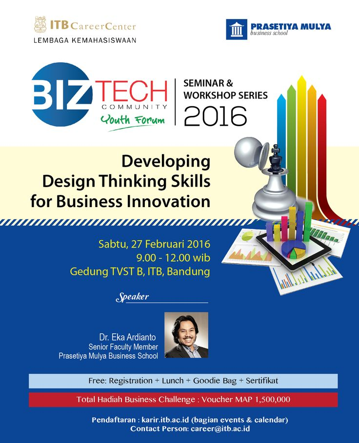 IKUTI! BizTech Youth Forum 2016: Developing Design Thinking Skills for Business Innovation. Info >> http://bit.ly/1O0FfJH