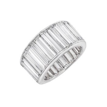 Estate Betteridge Collection Tapering Baguette-Cut Diamond Eternity Band Ring