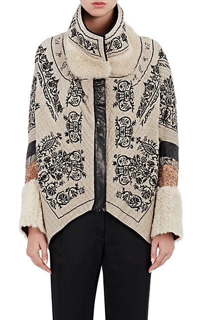 Gary Graham Embroidered Linen Cocoon Jacket - Jackets - 504749453