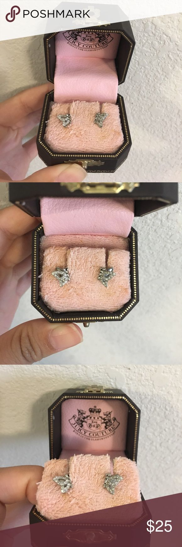 NWOT Juicy Couture Butterfly Stud Earrings Super cute juicy couture butterfly stud earrings. only used this once but i left the case open so the padding got dirty. Earrings are in great condition, no rust or anything, they actually don't rust if exposed to water or dust 😊 Juicy Couture Jewelry Earrings