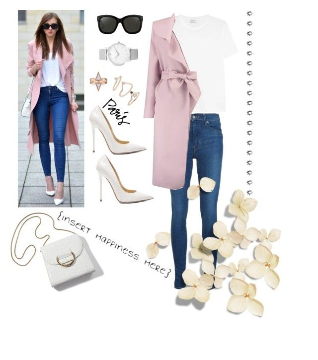 """""""Untitled #27"""" by siggan22 on Polyvore featuring Yves Saint Laurent, Levi's, Boohoo, Jimmy Choo, Tiffany & Co., Linda Farrow, Larsson & Jennings and Topshop"""