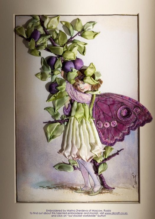 Sheer Inspiration: A. Embroidered Designs » A. Flower Fairies » The Sloe Fairy