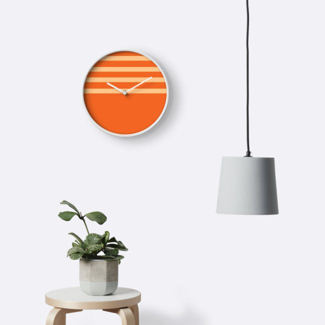 New Pattern Range on my shop. This Orange Clock would brighten up any room!