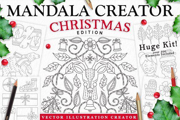 Christmas Holiday Mandala Creator  @creativework247