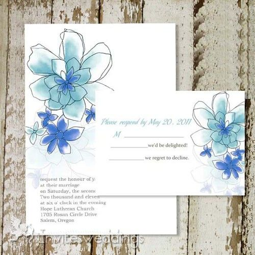 Affordable Floral Wedding Invitations for Casual Outdoor Venues – Part One - InvitesWeddings.com
