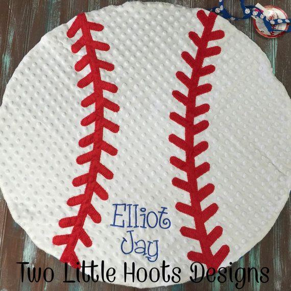 Mud Pie Minky Baseball Baby Blanket by TwoLittleHootsDesign