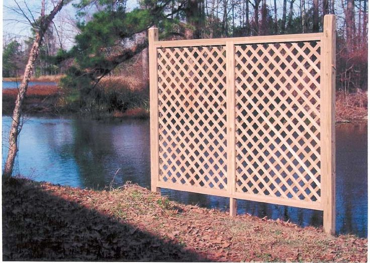 Outdoor vinyl lattice privacy screen woodworking for Outdoor lattice privacy screen
