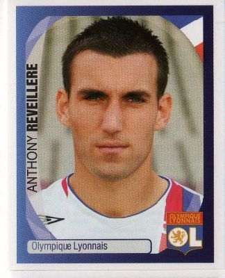 LYON - Anthony Reveillere 215 PANINI 2007-2008 Champions League Official Football Sticker