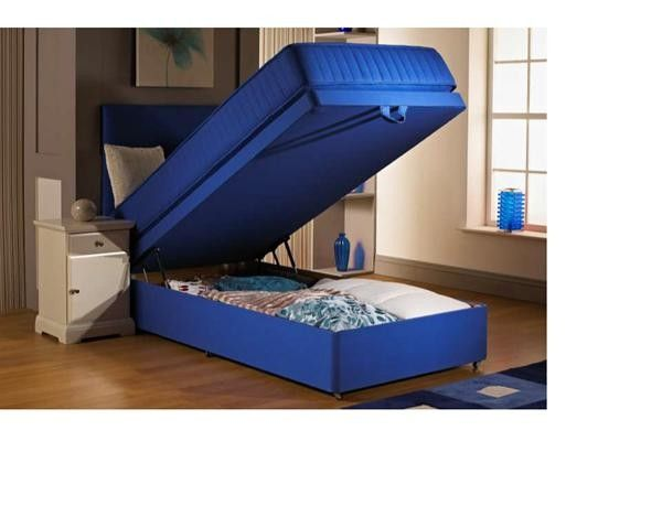 """2ft 6"""" Fusion Blue Small Single Divan Bed"""
