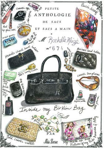 Portrait of inside a Birkin bag...so cute x