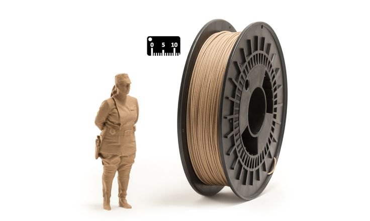 PLA WOOD by Eumakers by the meter (by the yard)   PLA Filament blended with fir-wood fibres available in 1.75 mm diameter   EUMAKERS PLA WOOD is a high quality and easy-to-use filament, ideal for your aesthetic and functional prototypes   Weight: 600 grams (filament net)   www.monzamakers.com/shop   #3Dprinting #stampa3D #3Dprint #3Dfilaments #3Dfilament