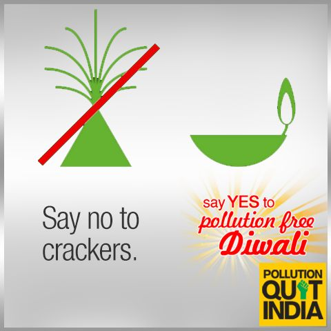 Say no to inhaling harmful nitrous oxide during Diwali. Let's make it a ‪#‎PollutionFreeDiwali‬