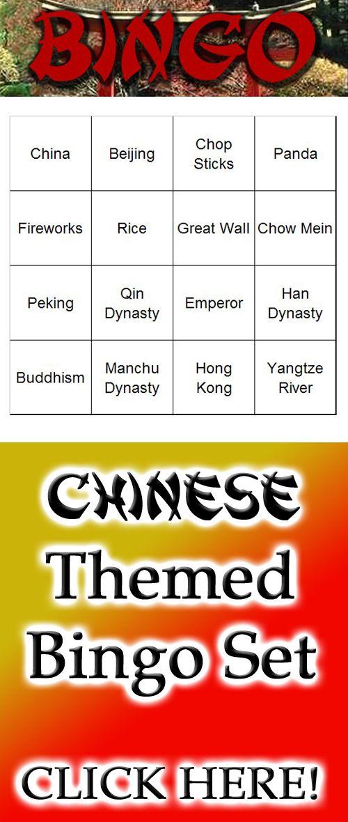 A Fun Chinese Themed Bingo Set