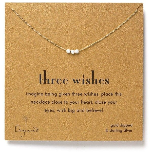 Dogeared Three Wishes Necklace, 16 ($55) ❤ liked on Polyvore featuring jewelry, necklaces, accessories, fillers, heart shaped necklace, dogeared necklace, dogeared jewelry, heart jewelry and heart necklace