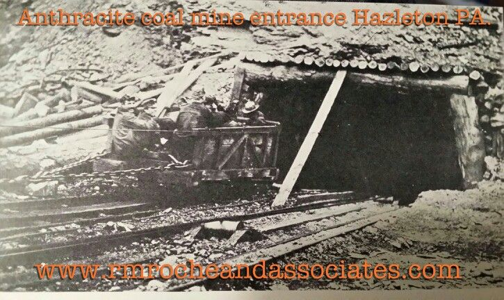 Anthracite Coal Mine Near Hazelton Pa R M Roche