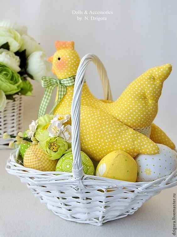 Солнечная Ряба. Пасхальная композиция - желтый,пасхальный декор,Пасха: