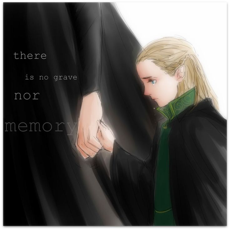 "Young Legolas from ""The Hobbit"", after his mother's death (movie-verse) - Art by nevui-penim-miruvorrr.tumblr.com"