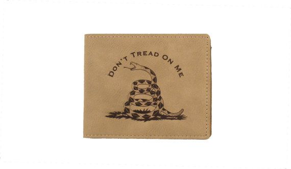 Don't Tread On Me  Gadsden Flag Bi-fold by gclasergraphics on Etsy