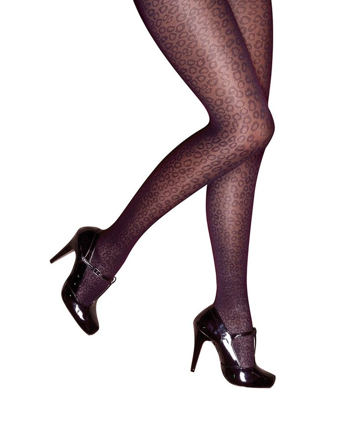 Curves+black+animal+print+tights+by+Pretty+Polly+on+secretsales.com